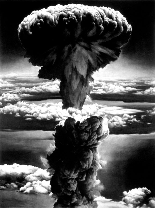 Robert Longo Drawing of Nagasaki