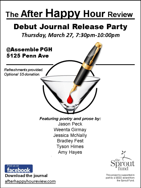 After Happy Hour Review Reading Series Poster