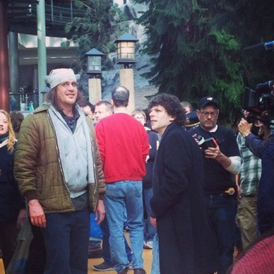 Jason Segel as David Foster Wallace on the set of The End of the Tour.